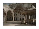 A View of the Courtyard Outside of Sultan Selim Mosque Photographic Print by Gervais Courtellemont
