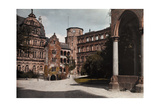 A View of the Courtyard of the Heidelberg Castle Photographic Print by Hans Hildenbrand