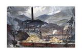 Copper Ore Is Turned into Metal in Order to Make Weapons Giclee Print by Thornton Oakley