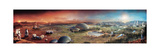 Depiction of Terraforming Transformation of Mars' Surface Giclee Print by Stephan Morrell