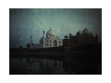 A View of the Taj Mahal on the Jumna River at Sunset Photographic Print by Gervais Courtellemont