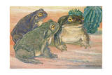 A View of Three Colorado River Toads Giclee Print by Hashime Murayama