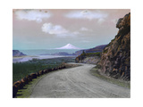 The Columbia River Winds Through Mountainous Maryhill and Mt. Hood Photographic Print by A. H. Barnes