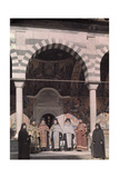 Priests of the Rila Monastery Belong to the Bulgarian National Church Photographic Print by Wilhelm Tobien