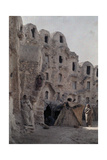 A Street Scene in an Ancient Troglodytae Village Photographic Print by Franklin Price Knott