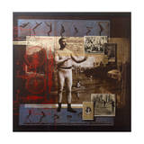 A Collage Depicts Famous Sports Figures from the Twentieth-Century Giclee Print by Fred Otnes