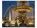 Fountain Place de la Concorde Poster