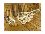 Illustration Showing How the Tomb of Seti I Was Built and Decorated Giclee Print by Christopher Klein
