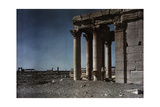 The Baal Temple with the Triumphal Gateway and Grand Colonnade Behind Photographic Print by Maynard Owen Williams