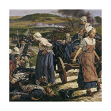 An Artistic Portrait of Women on the Battlefield Giclee Print by Louis S. Glanzman