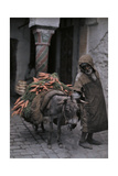 A Carrot Peddler Walks His Donkey to the Market Photographic Print by Franklin Price Knott