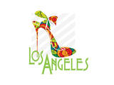 Los Angeles Shoe Posters by Elle Stewart