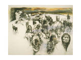Cherokee Indians are Forced from their Homelands During the 1830'S Giclee Print by Herbert Tauss
