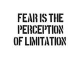 Fear And Limitation Print by  SM Design