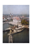 An Elevated View of Lindau, an Island Situated on Lake Constance Photographic Print by Hans Hildenbrand