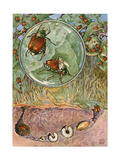 The Larval Stages of a Japanese Beetle Giclee Print by Hashime Murayama