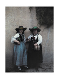 Two Women Sell Whiskey Photographic Print by Hans Hildenbrand