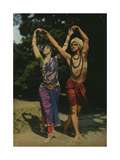 Two Modern Entertainers Perform an East Indian Dance Photographic Print by Franklin Price Knott