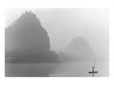 Misty River, Guilin, China Prints