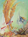A Painting of a Japanese Marine Life Scene Giclee Print by Else Bostelmann