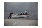 Coastguardsmen Go Out in their Boat Fotografisk tryk af Jacob J. Gayer