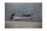 Coastguardsmen Go Out in their Boat Photographic Print by Jacob J. Gayer