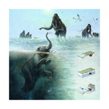 A Baby Mammoth Suffocated in a Mixture of Silt and Clay Giclee Print by Kazuhiko Sano