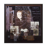A Collage Depicts Famous American Businessmen Giclee Print by Fred Otnes