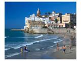 Playa San Sebastian Sitges Spain Art