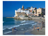 Playa San Sebastian Sitges Spain Art