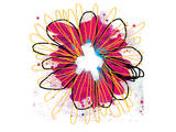 Fuchia Splash Flower Prints by Elle Stewart