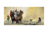 Sun Beats Down on Crusaders Marching across Asia Minor in 1097 Giclee Print by Stanley Meltzoff