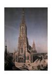 An Elevated View of the Munster Cathedral Fotografisk tryk af Hans Hildenbrand