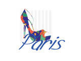 Paris Shoe Print by Elle Stewart