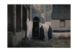 Two Students Stand Outside a Medersa Photographic Print by Gervais Courtellemont