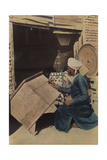 A Carpenter Decorates a Hope Chest Along the Euphrates River Photographic Print by Eric Keast Burke