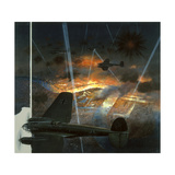 A Painting Depicts a World War Ii, 1940 German Attack on London Giclee Print by William H. Bond