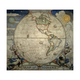 N.C. Wyeth's Painting of the Western Hemisphere Giclee Print by Newell Convers Wyeth