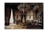 The Interior of a Dining Room in Schloss Herrenchiemsee Castle Photographic Print by Hans Hildenbrand