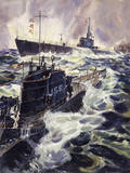Andre Durenceau - Submarines Have Long Cruising Ranges on the Water's Surface - Giclee Baskı