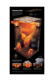 A Column of Super-Heated Rock Beneath Yellowstone National Park Giclee Print by Hernan Canellas