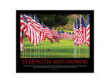 Strength And Honor Posters by  SM Design