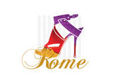 Rome Shoe Prints by Elle Stewart