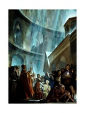 Victorious Crusaders Kneel in the Church of the Holy Sepulcher Giclee Print by Stanley Meltzoff
