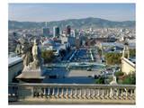 Monument Espana Barcelona Spain Art