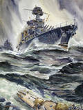 A Painting of the U.S. Battleships, Maryland and New Mexico Giclee Print by Andre Durenceau