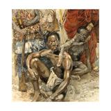 Legendary Denkyira Warrior, Owusu Mensa, Captured for Slavery Giclee Print by Jerry Pinkney