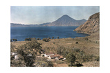 A View of Lake Atitlan and the San Pedro Volcano Photographic Print by Jacob J. Gayer