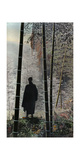 An Abbot Enjoys the Morning Light Outside a Chinese Monastery Fotografisk tryk af Herbert C. and Deng White and Bao-Ling