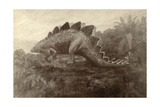 A Painting of a Dinosaur Giclee Print by Charles R. Knight
